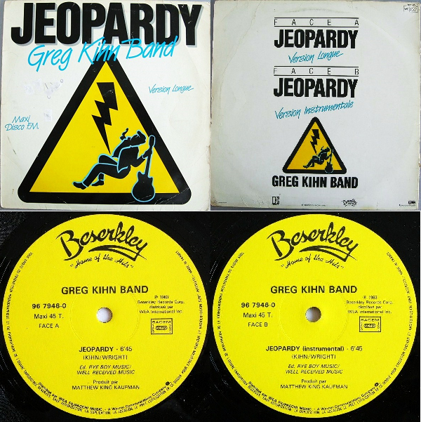 "Greg Kihn Band Jeopardy Single 12""1983 Flac Nnn-468c633"